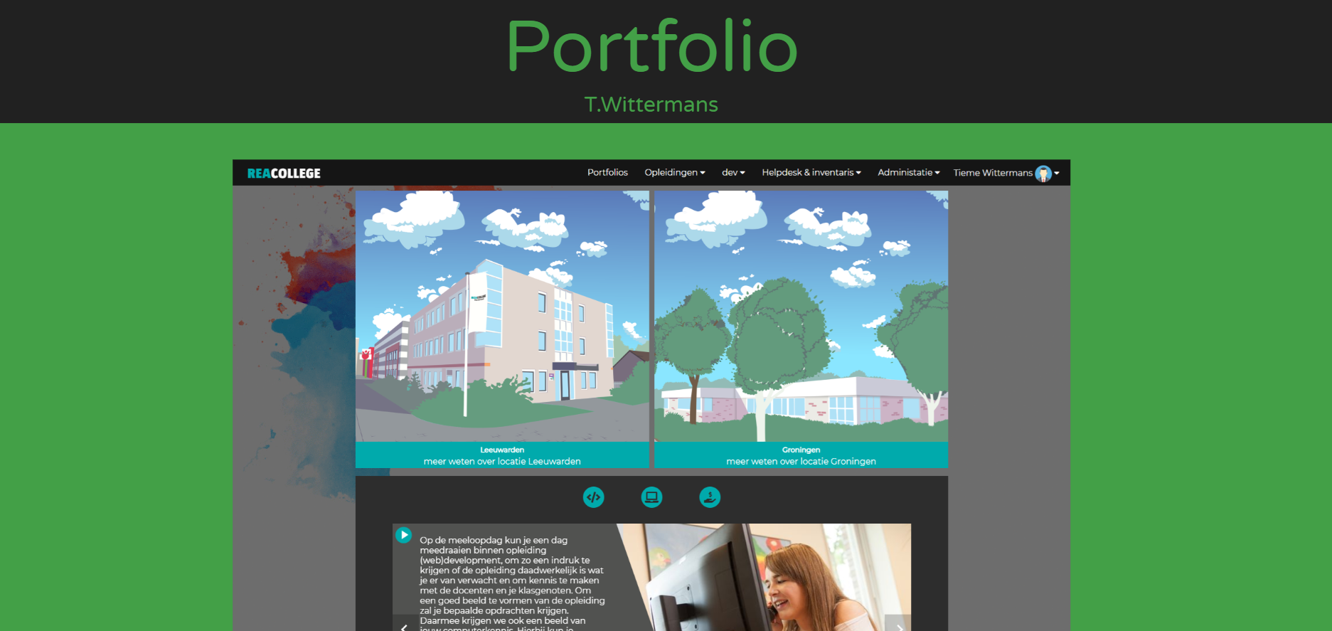 portfolio website image